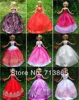 barbie dolls - items Dress Shoes Hangers Handmade Gown Dress Clothing For Barbie Doll styles for choose