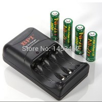 Cheap 4 Pcs NiZn 1.6V AA 2500mWh mAh Rechargeable Battery + BPI Charger set High Voltage For High Drain Usage for free shipping