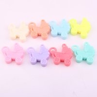 Wholesale Hot selling fashion DIY acrylic beads pendant accessories with baby carriage design Children s toy materials by hand