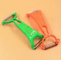 wholesale plastic fruit - Hot Practical Kitchen Tools Gadgets Helper Vegetable Fruit Peeler Parer Julienne Cutter Slicer Color Random for
