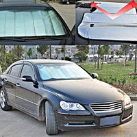 Wholesale 2pcs Foldable Car Auto Front Rear Windshield Sunshade Sun Shade Visor Side Mesh Shield Car Half Cover cm
