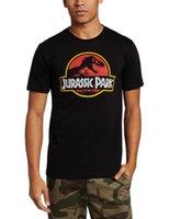 al por mayor tapas de dinosaurios-2015 Nueva camisa ocasional de la camiseta del hombre del verano La camisa ocasional de la manga del cortocircuito del hombre de la tapa de la camiseta del algodón del dinosaurio del mundo Jurassic arropa la ropa