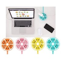 Wholesale Creative Candy Colors Lemon Styling USB Cables Chargers Power Socket Insert Bits with Box