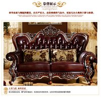 genuine leather sofa - 100 Vintage genuine leather cowhide sofas for living room with solid rubber wood solid structure custom clearance