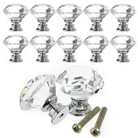 Wholesale 1pc mm Diamond Crystal Glass Alloy Door Drawer Cabinet Wardrobe Pull Handle Knobs EJ874052