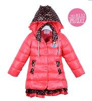 Wholesale Hot Sale Frozen Coat Cotton Jacket Girl FROZEN Winter Warm Outerwear Anna and Elsa Children Hooded Coat Kids Down Parkas Colors