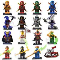 al por mayor héroes de acción-15pcs figuras Ninjago maravilla superhéroes bloques de construcción decool figuras ladrillos juguetes figura de acción