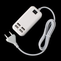 apple desktop power cord - 4USB EU Plug Ports Desktop Wall Charger w Power Cord for Mobile Phone Tablet