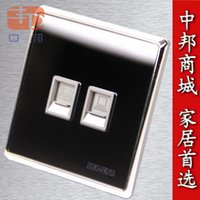 Wholesale Genuine Apple switch socket panel luxury crystal mirror Phone network computer socket