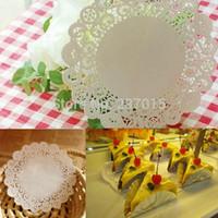 lace doilies - 100PCS Paper Lace Doilies Wedding Party Decorations Round Cupcake Cake Paper Doily cm