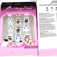 Wholesale Nail Tips New Full Cover Acrylic False Nails Boxs French Manicure Acrylic Nails Supplies D False nails Pre Design