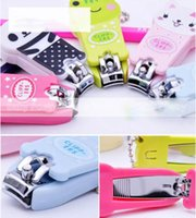 Wholesale HOT Sweet Animal Cartoon Panda Frog Cat Nail Scissors Clippers Keychain Brand New Good Quality
