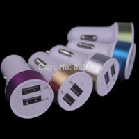 apple car adaptor - Colorful Dual usb ports A A Car charger adaptor for samsung s3 s4 s5 s6 for iphone s for mp3 mp4