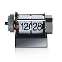 alarm senior - Senior mechanical page turning table clock digital watch home decor flip clock klok masa saati reloj metal cm