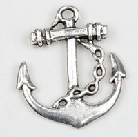 anchor charms - 24X27mm Tibetan Silver Anchor Charms Pendants Jewelry DIY