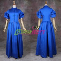 Cheap Customized Civil War dress Gothic costume Southern Ball Gown Dress victorian Medieval Corset costume blue victorian ball gowns
