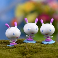 ants craft - mini microlandschaft cute craft Moss micro landscape ornaments meaty white ant cartoon flower doll ornaments DIY materials