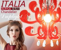 Wholesale IKEA modern Italy Art Restaurant Chandelier Acrylic Candles Bedroom Modern Crystal Cafe American colors E27 Ac110 v