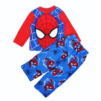 Wholesale 4sets Spider man Pyjamas Kids Sets Long Sleeve Cartoon Spider Man Boy Pajamas For Baby Sleepwear Clothing Set Brand Spiderman Pajamas