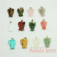 Wholesale Mix Multi style Carved Angel Natural Stone Charms Finding Pendants mm mm W02746 pendant scarf pendant usb