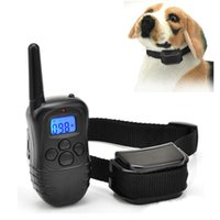 Wholesale Dog training collar Yard Hunting LCD LV Level Shock Vibra Remote conttrol Pet Dog Training Collar for Barking Deterrents
