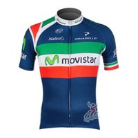 Wholesale MOVISTAR Outdoor Sports Men s short sleeve Shirts Cycling Short Jersey Breathable Short Sleeve Cycling Clothing Bicycle Sportswear Quick Dry