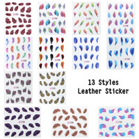 Wholesale Nail art decoration sticker Feather Water Transfers Stickers Decals for nails