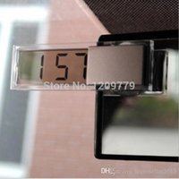 Wholesale New Hot Car Electronic Clock Mini Durable Transparent LCD Display Digital with Sucker G0147 W0 SYSR