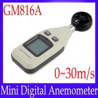 Wholesale mini anemometer digital anemometer wind speed wind temperature gauge sonde GM816A