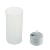 Wholesale 5PC Romantic Shake Sound Sensor Flameless Blow LED Candle Light Semitransparent Cup Tea LightHot New Arrival