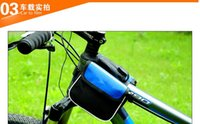 Wholesale Mountain Bike Cycling bags saddle bag Three color optiona the new front tube bags Cycling bagsmountain bike hand bar bags