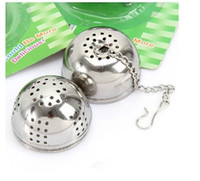Wholesale Hot Stainless Infuser Strainer Hook Loose Tea Leaf Spice Herb Mesh Brew Filter Ball Tea necessary appliances