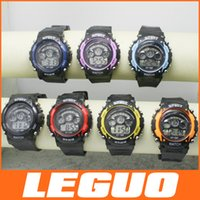 Wholesale Factory many colors luminous student movement waterproof multifunction electronic watches children NT F DHL D