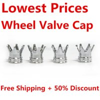 Wholesale 8 Silver Wheel Valve Cap Type Stem Air Caps Accessories for Cover Car Truck Bike order lt no track