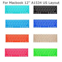 Wholesale 5PCS US Layout Keyboard Protector Cover Case Skin for Apple Macbook quot inch A1534 Multi Color For Choose