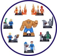 Wholesale Action figures SY167 Super Heroes fantastic Four and Fantastic Four starnger Minifigures building Blocks Toys