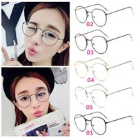 Wholesale New Arrivals Women s Glasses Girl s Eyewear Eyeglass Round Frame Metal Vintage Fashion Without Retail Packages GC39