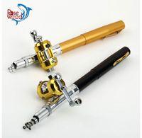 Wholesale cheap beach mini pen fishing rods and casting reel combos kit carretilha pesca m telescopic pole pen fishing rod with reel set