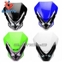 achat en gros de phare moto rue universel combattant-Projecteur de LED Vision Street Fighter Bike Carénage de moto Universal Dirt Bike Sport double ajustement YZF DRZ DRZ250 DRZ400 RMX RM - Zjmoto