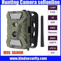 Wholesale 940NM IR LED MP MP MP HD digital M FT GSM MMS GPRS Hunting Trail Camera With P Video