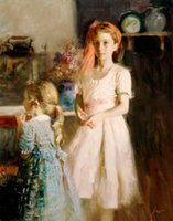 One Panel best friends paintings - Nude Painting Modern Pino Daeni s Best Friends for sale Oil Paintings Canvas Art Hand painted High quality