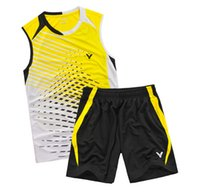 Wholesale Victor fashion badminton sports wear shirt short for men and women