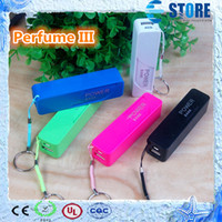 Wholesale Mobile Power Bank Charger Perfume III Supply External Backup Portable Phone Power USB Power Banks Chargers for Smart Phone Samsung wu