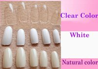 Wholesale Wholesales tips False Nails Oval Nails Art Tips Round Full Cover Clear Color Tips an natural color Nails Tips