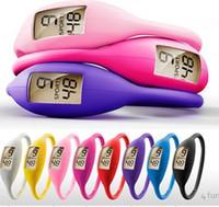 Caoutchoucs ion Avis-Anion Santé Sport Wrist Bracelet numérique Silicon Unisexe caoutchouc Jelly Ion Montre Couleurs mélangées Prix DHL Fedex UPS usine gratuite