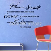 bible quote wall decals - New GOD GRANT ME THE SERENITY PRAYER BIBLE AA Art Quote Wall Stickers Decal Decor
