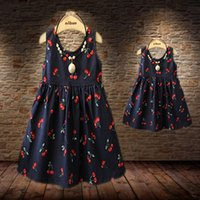 Wholesale Matching Mother Daughter Clothes Summer Style mother Daughter Matching Dresses Mom and Daughter dress Cotton Family Clothing