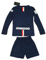 football jersey blank - 2014 IBRAHIMOVIC PSG kids children youth long soccer jersey kits football shirts shorts Paris Saint Germain blank customized