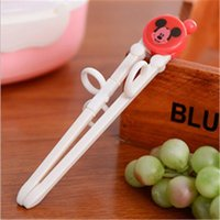 Wholesale 1pair Cartoon Style Kids Children early Learning Training Designed Chopsticks Baby Enlightenment Chopsticks