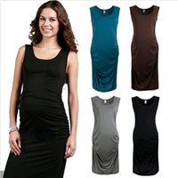 tunic tops - Comfortable Motherhood Maternity Dress Pregnancy Vest Women Clothes Top Tunic Short Sleeve DH04